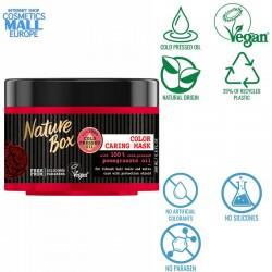 грижовна маска за коса със студенопресовано масло от нар NATURE BOX