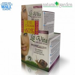 Комплект крем за лице и околоочен крем с екстракт от охлюви La Vita | Найчъръл Гардън