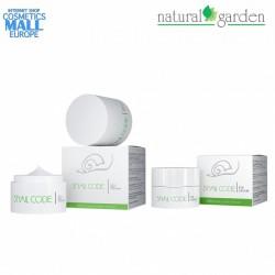 Комплект крем за лице и околоочен крем с екстракт от охлюви Snail Code   Natural Garden