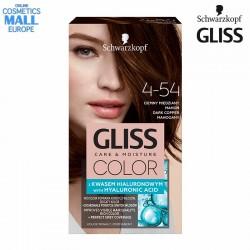 4-54 Тъмно меден махагон цвят, боя за коса GLISS COLOR Care & Moisture