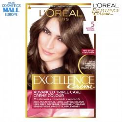 цвят 5 естествено кафяв (Natural Brown) боя за коса L'Oreal Excellence Creme