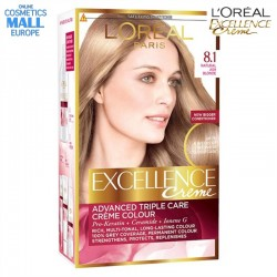 цвят 8.1 Natural Ash Blonde боя за коса L'Oreal Excellence Creme