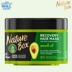 Възстановяваща маска със струденопресовано масло от авокадо NATURE BOX