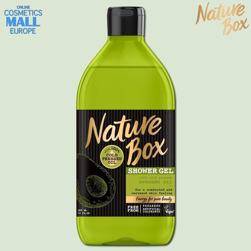 душ гел със студено пресовано масло от авокадо NATURE BOX