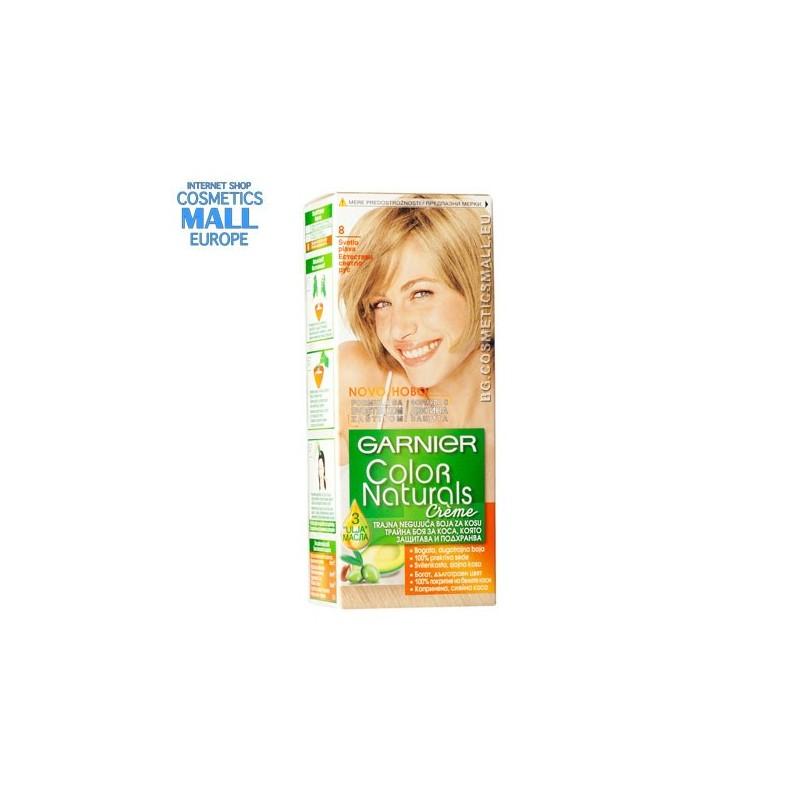 Garnier Color Naturals цвят 8.0 Естествено светло рус трайна боя за коса | Garnier Color Naturals