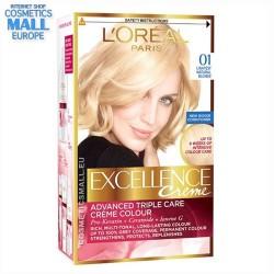 01, Lightest Natural Blonde Permanent hair color L'Oreal Excellence Creme