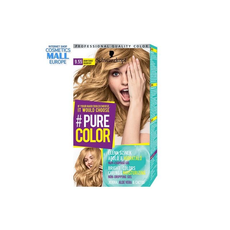 Schwarzkopf Pure Color цвят 9.55 Златно небе, дълготрайна гел-боя за коса