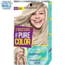 цвят 10.21 бебешко рус, дълготрайна гел-боя за коса Schwarzkopf Pure Color