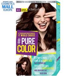 цвят 4.6 Тъмен шоколад, дълготрайна гел-боя за коса Schwarzkopf Pure Color
