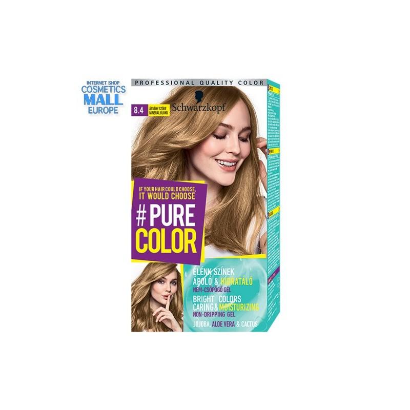 Schwarzkopf Pure Color цвят 8.4 минерално рус, дълготрайна гел-боя за коса