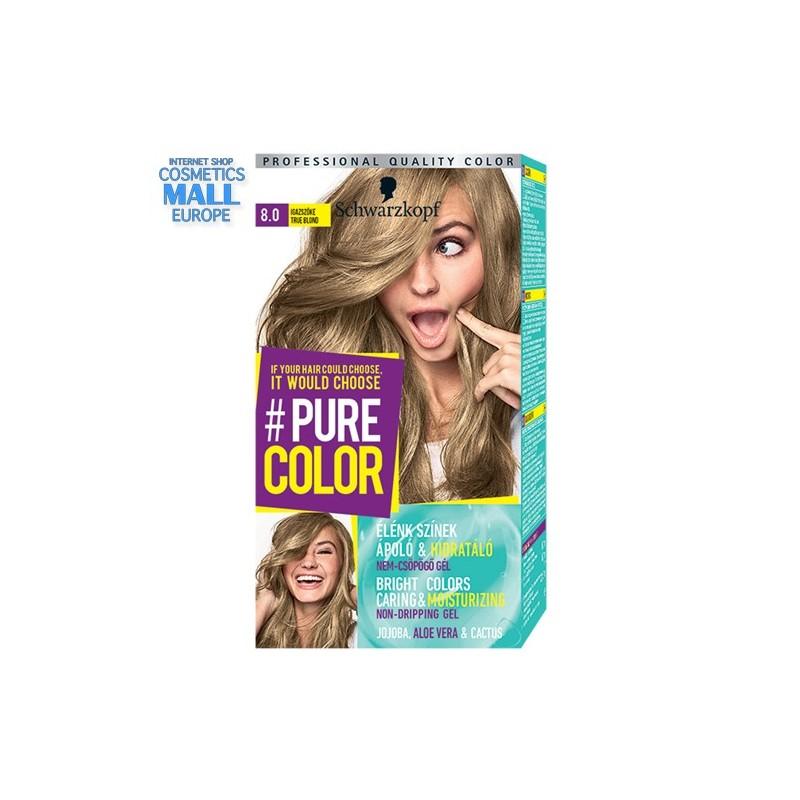 Schwarzkopf Pure Color цвят 8.0 чисто рус, дълготрайна гел-боя за коса