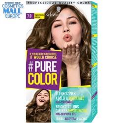 цвят 7.0 пастелно рус, дълготрайна гел-боя за коса Schwarzkopf Pure Color