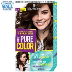 цвят 5.0 просто кафяв, дълготрайна гел-боя за коса Schwarzkopf Pure Color