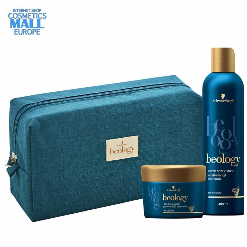 BEOLOGY подаръчен комплект за жени с козметика за суха коса и бонус луксозен несесер