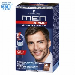 70 Natural Dark Brown Anti-Grey Color Gel Schwarzkopf Men Ultimate