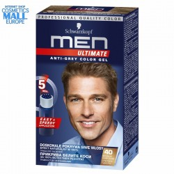 40 Natural Dark Blond Anti-Grey Color Gel Schwarzkopf Men Ultimate