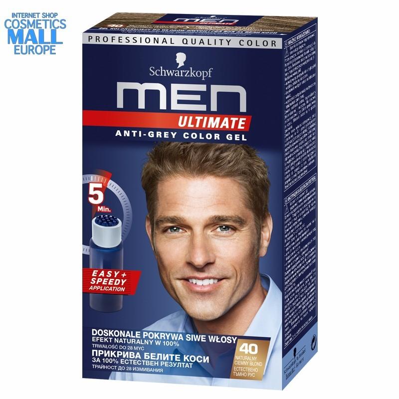 40 естествен тъмно рус гел боя за коса за мъже Men Ultimate