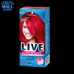 LIVE боя за коса, цвят ултра ярък 92 Червен