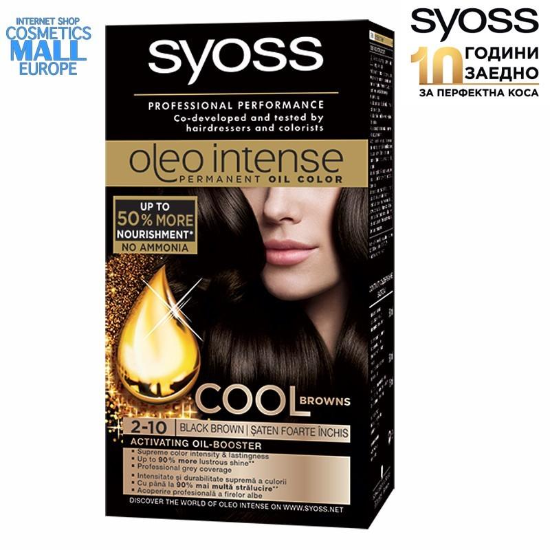 2-10, черно-кафяв цвят, боя за коса SYOSS Oleo Intense