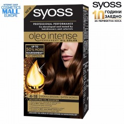 Syoss Oleo Syoss Oleo 4-18, цвят Мока кафяв, боя за коса SYOSS Oleo Intense
