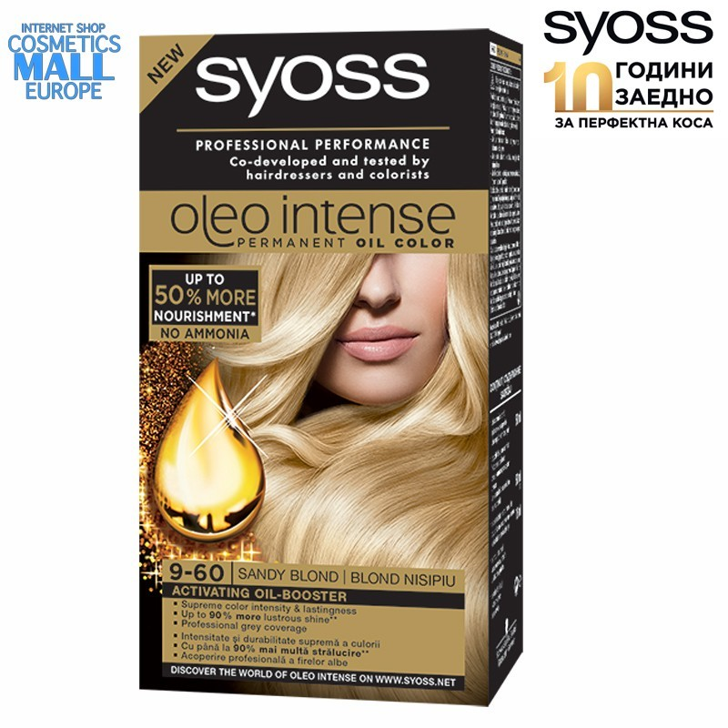 9-60 Sandy Blond, Hair Color Dye SYOSS Oleo Intense