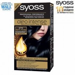 1-40 Blue Black, Hair Color Dye SYOSS Oleo Intense