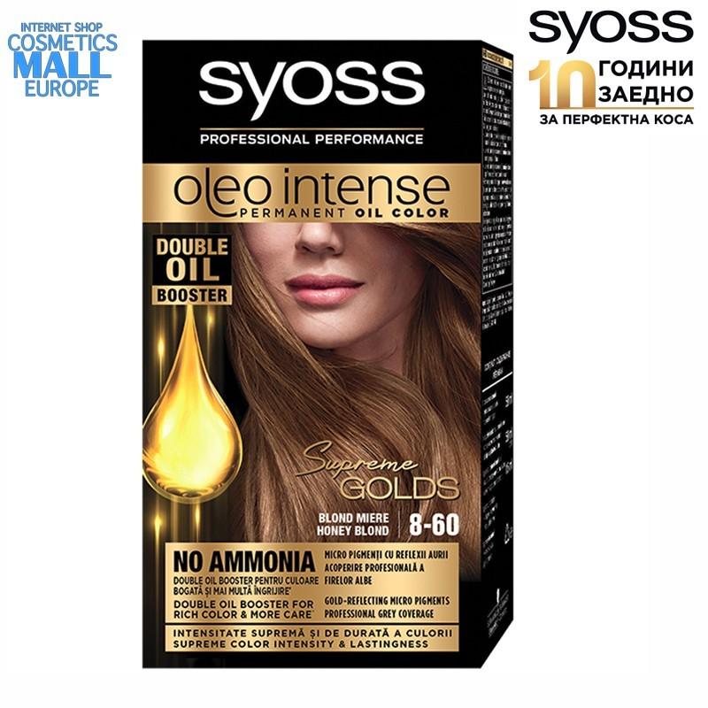 8-60 Honey Blond, Hair Color Dye SYOSS Oleo Intense