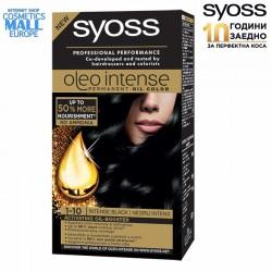 1-10 наситено черен цвят, боя за коса SYOSS Oleo Intense