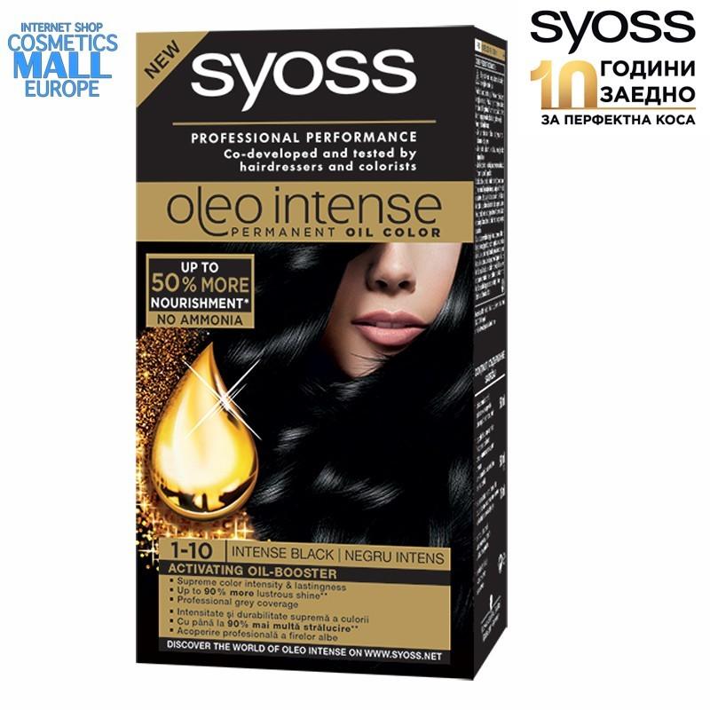 1-10 Intense Black, Hair Color Dye SYOSS Oleo Intense