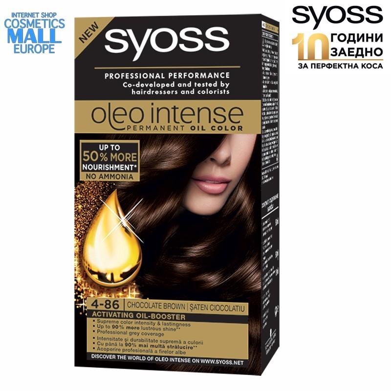Syoss Oleo 4-86 Шоколадово кафяв боя за коса SYOSS Oleo Intense