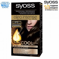 3-10 Deep Brown, Hair Color Dye SYOSS Oleo Intense