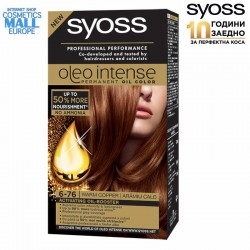 6-76 Warm Copper, Hair Color Dye SYOSS Oleo Intense