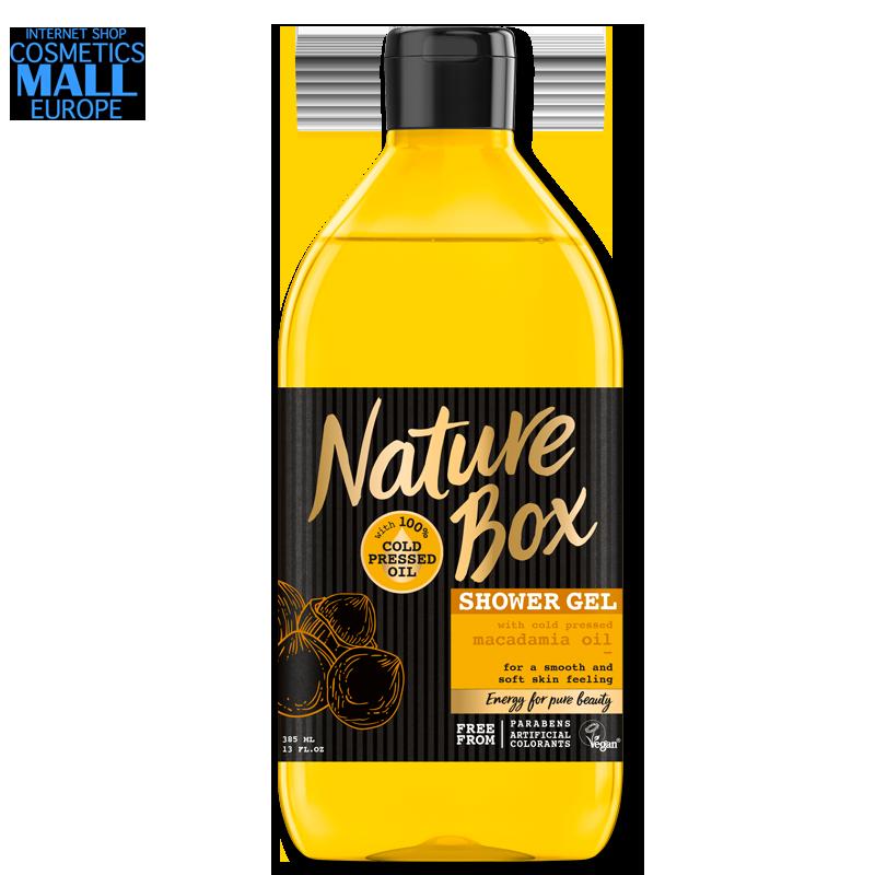 душ гел със студено пресовано масло от макадамия NATURE BOX