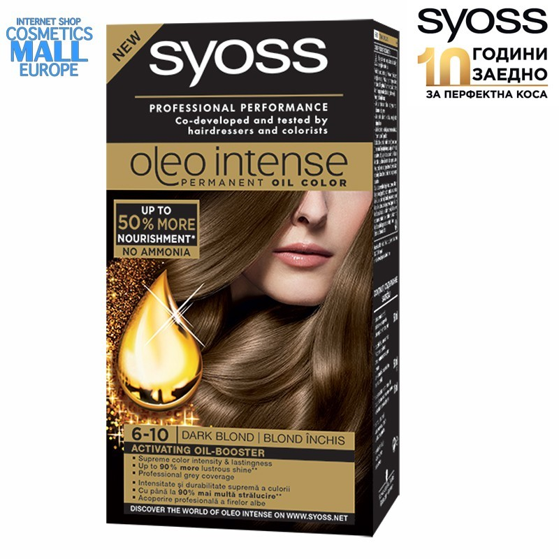6-10 Dark Blond, Hair Color Dye SYOSS Oleo Intense