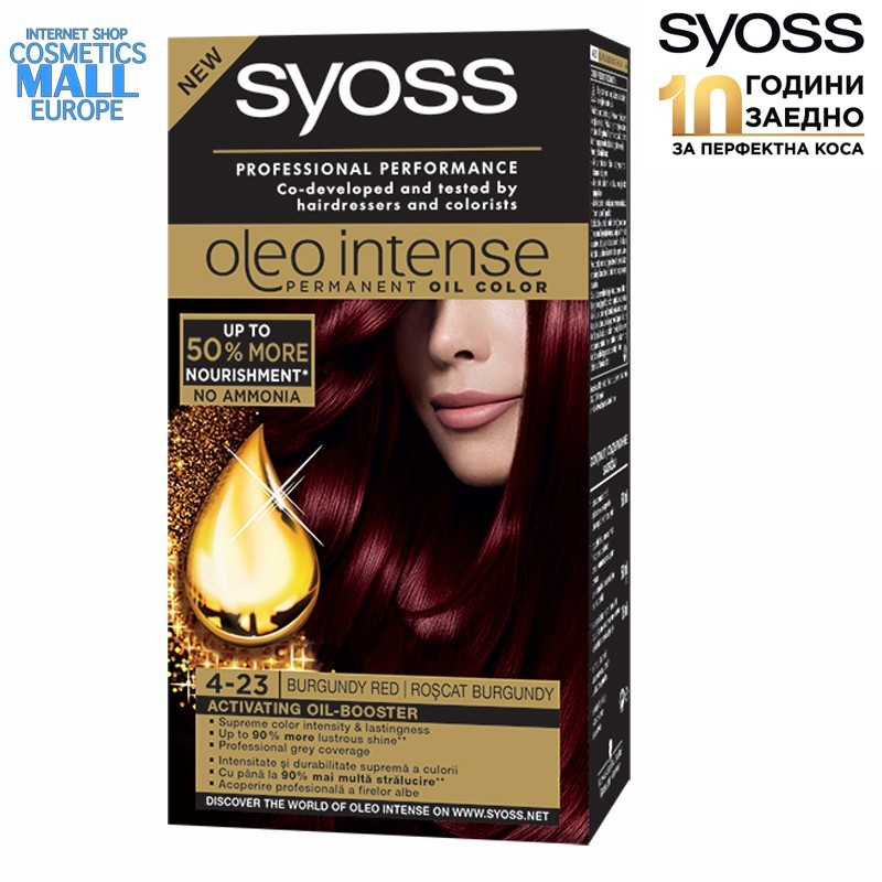 4-23 Burgundy Red, Hair Color Dye SYOSS Oleo Intense
