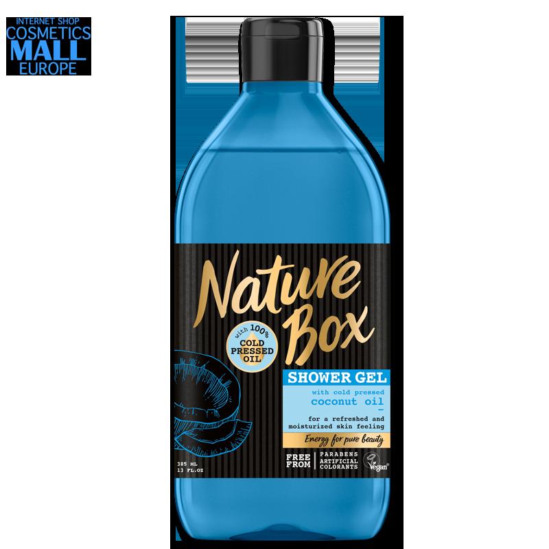 душ гел със студено пресовано масло от кокос NATURE BOX