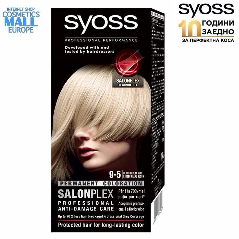 9-5 ледено перлено рус цвят, SYOSS Color перманентна боя за коса