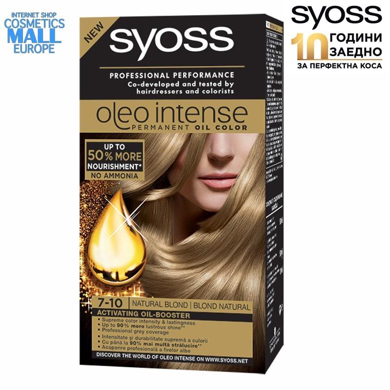 7-10 естествено рус цвят, боя за коса SYOSS Oleo Intense