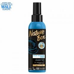хидратиращ спрей  за суха коса Nature Box със студенопресовано малсо от кокос