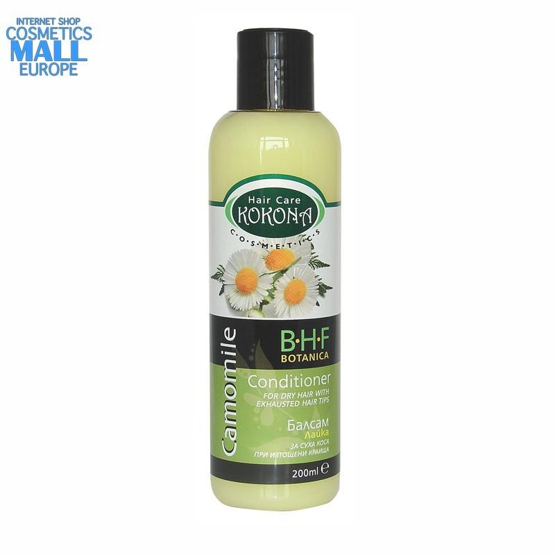 hair conditioner Camomile for dry hair, B.H.F. BOTANICA | Kokona Cosmetics