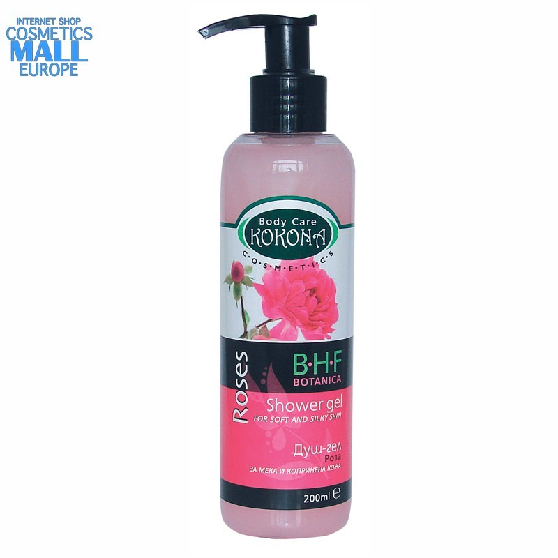 Rose shower gel, B.H.F. BOTANICA | Kokona Cosmetics