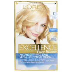 боя за коса L'Oreal Excellence Pure Blonde, цвят 01, ултра светло естествено русо (Ultra Light Natural Blonde)
