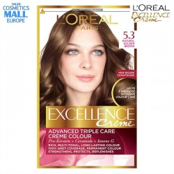 цвят 5.3 Natural Golden Brown боя за коса L'Oreal Excellence Creme