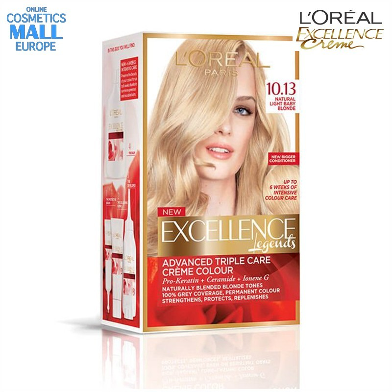 цвят 10.13 Natural Light Baby Blonde боя за коса L'Oreal Excellence Creme