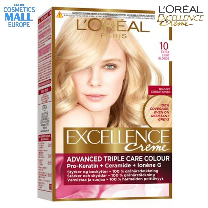 цвят 10 Natural Baby Blonde боя за коса L'Oreal Excellence Creme