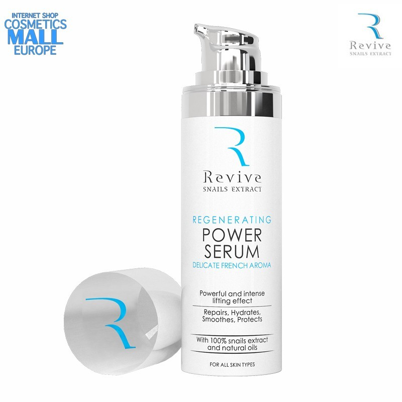 Regenerating and Anti Wrinkle Power Serum REVIVE SNAILS EXTRACT - DELICATE FRENCH AROMA | Natural garden