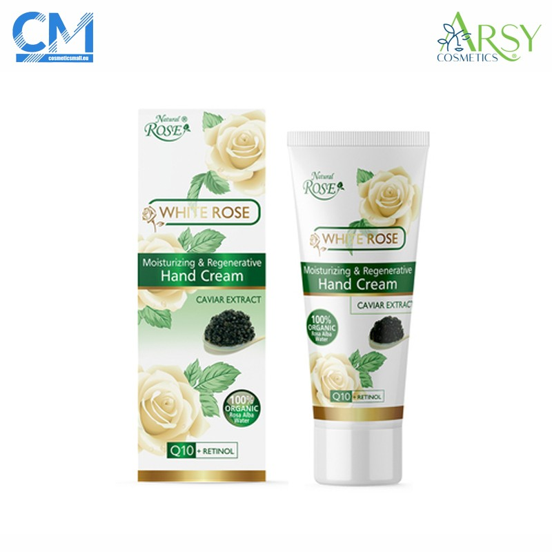 Hydrating and anti ageing hand cream White Rose | Arsy Cosmetics
