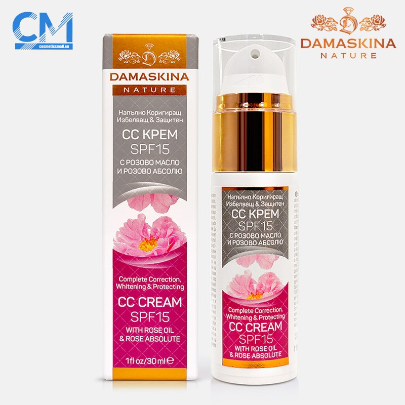 Complete Correction, whitening and protecting CC cream SPF 15 with rose oil & rose absolute | Damaskina Nature