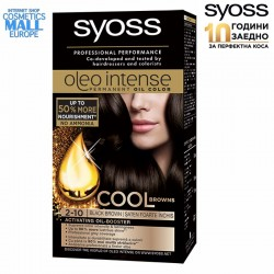 2-10 Black Brown Hair Color Dye, SYOSS Oleo Intense