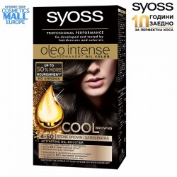 4-50 Stone Brown Hair Color Dye, SYOSS Oleo Intense